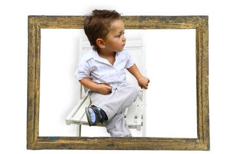 place for children: ni�o del pasado mira hacia el futuro