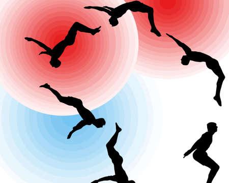somersault: Aerial somersault