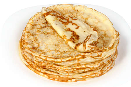 Russian pancakes, are preparing for Carnival Stock Photo