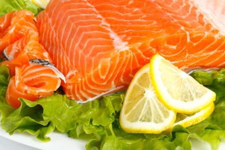 Salted salmon photo