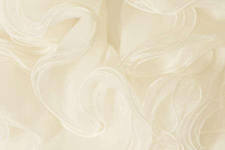 silk background: piece wedding dress of cream silk fabric