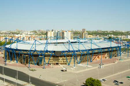 refurbished: Refurbished Metalist Stadium in Kharkiv for Euro 2012 football championship Editorial