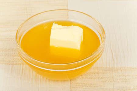 baked butter is not frozen closeup Stock Photo