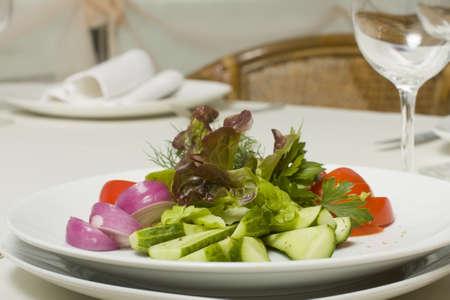 salad of fresh vegetables closeup