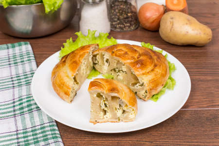 moldovan: Moldovan pie filling vertuta closeup