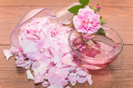 tea rose and rose water is made from the petals