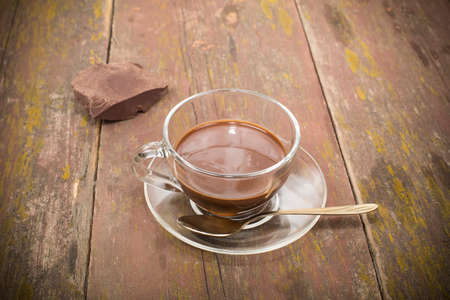 hot chocolate and food processing cocoa beans Stock Photo