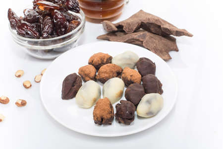 dried plum in chocolate homemade