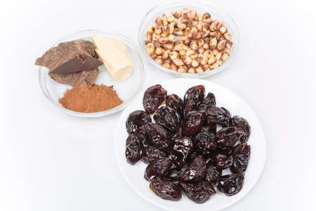 semifinished: set of products for the manufacture of candy plum in chocolate
