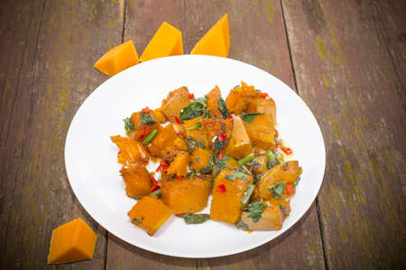 slices of pumpkin roasted with hot spices