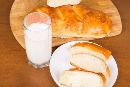 loaf of homemade dairy closeup