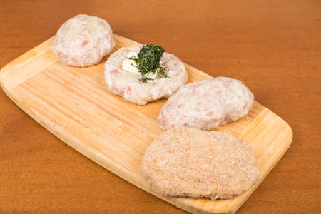 Ukrainian semi-finished raw burgers