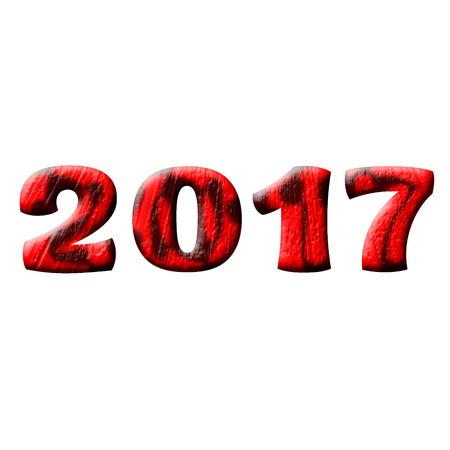 holiday symbol: 2017, year,  figures, calendar, holiday, symbol, day Stock Photo