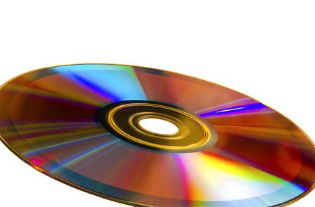 dvd rom: DVD-disk, CD-ROM isolated on white