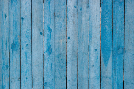Old wooden painted blue rustic background, paint peeling Stock Photo