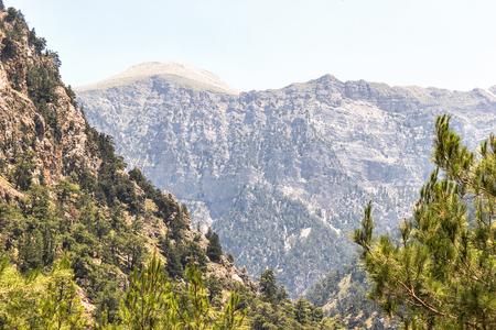 the gorge of Samaria, the mountainous terrain