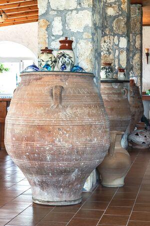earthenware: Greek vase in the interior