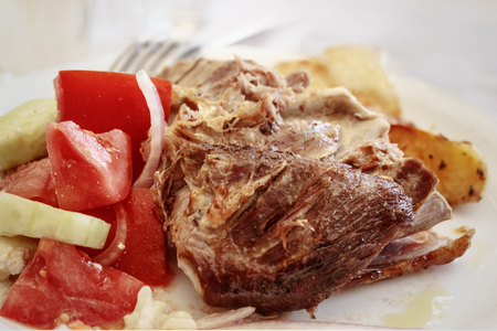 baked Lamb with tomatoes