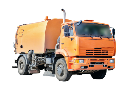 The image machine for sweeping of urban roads