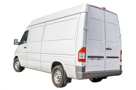 Isolated Delivery Van on a white background