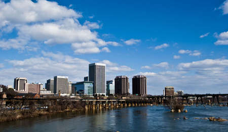 belle: A view of Richmond from Belle Isles Suspension Bridge
