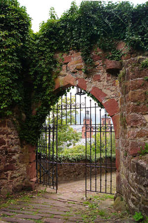 iron gate: Footpath high to the castle