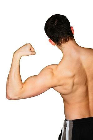 Bodybuilder in action Stock Photo - 12640771