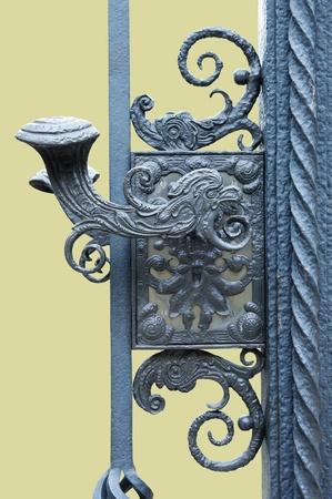 Wrought iron gates photo