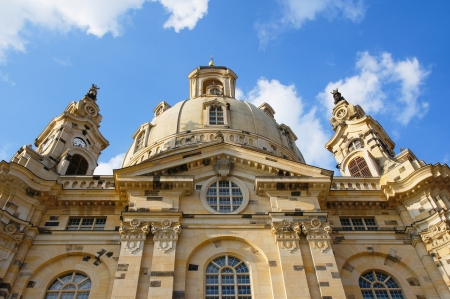 the blue domes: Church of Our Lady Dresden (Germany)