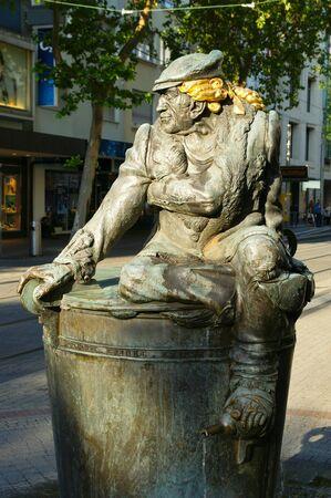 karlsruhe: Mr. Fountain Karlsruhe Stock Photo