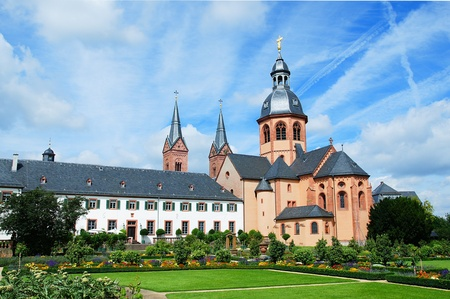 abbey: Basilica and Benedictine abbey in Seligenstadt Stock Photo