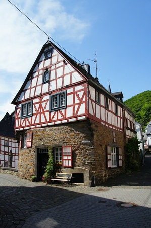 half timbered: Monreal - most beautiful town in Rhineland Palatinate Stock Photo