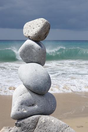 balancing act: Stone pyramid