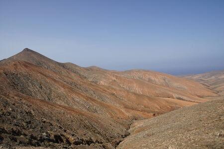View from the pass summit of La Tablada in Fuerteventura photo