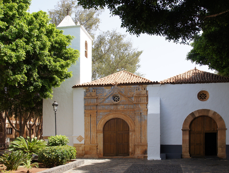 Church with magnificently portal in Pajara photo