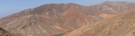 Panorama of the mountains to the west of Fuerteventura photo