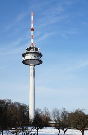 tv tower: Radio tower with directional antennas