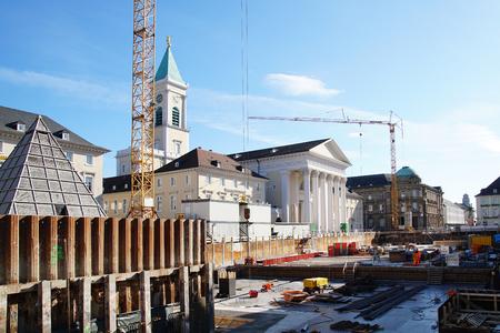 karlsruhe: Karlsruhe Market Place big construction site