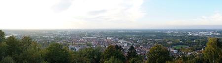 karlsruhe: View at Durlach and Karlsruhe Stock Photo