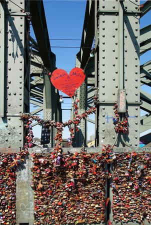 connectedness: Love locks on the bridge cologne hohenzollern