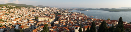 Panoramic picture from from the fortress on Sibenik
