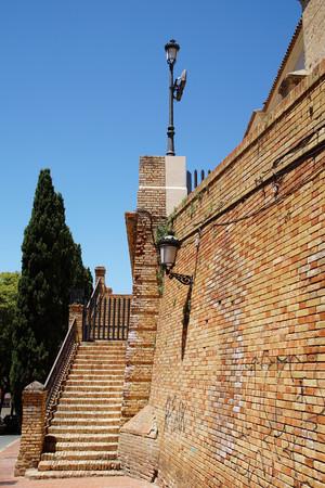 Staircase to the parish church of San Pedro in Huelva Spain