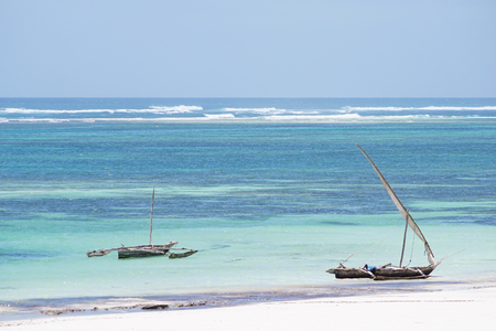Outrigger boat on the Indian Ocean