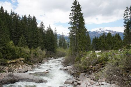 Krimml Waterfalls - world famous sight in Austria Фото со стока