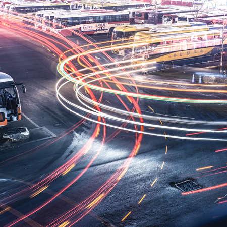 nightview: bus terminal