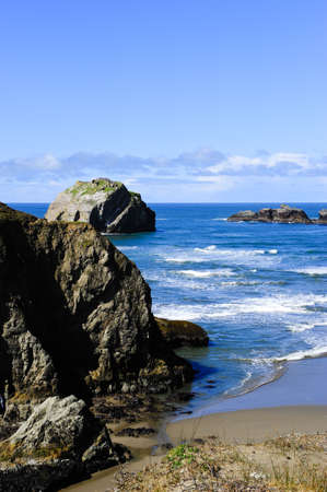 The rocky coast along the pacific northwest Stock Photo - 6407608