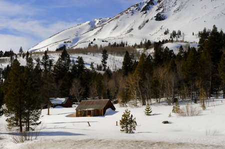 sierra snow: The eastern slope of the Sierra Nevada Mountains is quite different than the western side. This cabin near Hope Valley will spend much of its winter months inaccessible due to snow.