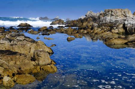 tides: Tide Pool near Pacific Grove, California Stock Photo