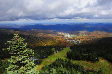 View from the top of Killington Ski resort in Vermont