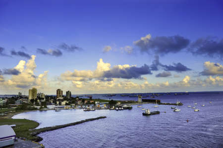 The harbor at Colon, Panama with the city in the background Stock Photo - 9506868